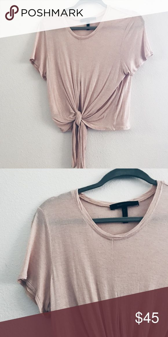 BCBG blush wrap top Worn once BCBGMaxAzria Tops