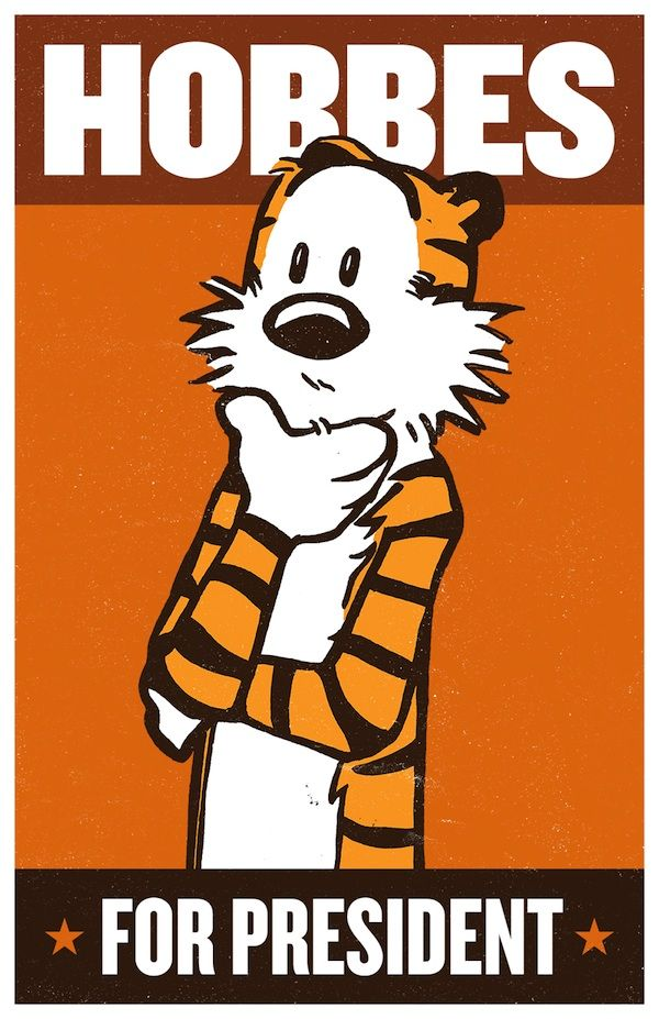 Vote for President Posters: Calvin and Hobbes - My Modern Metropolis