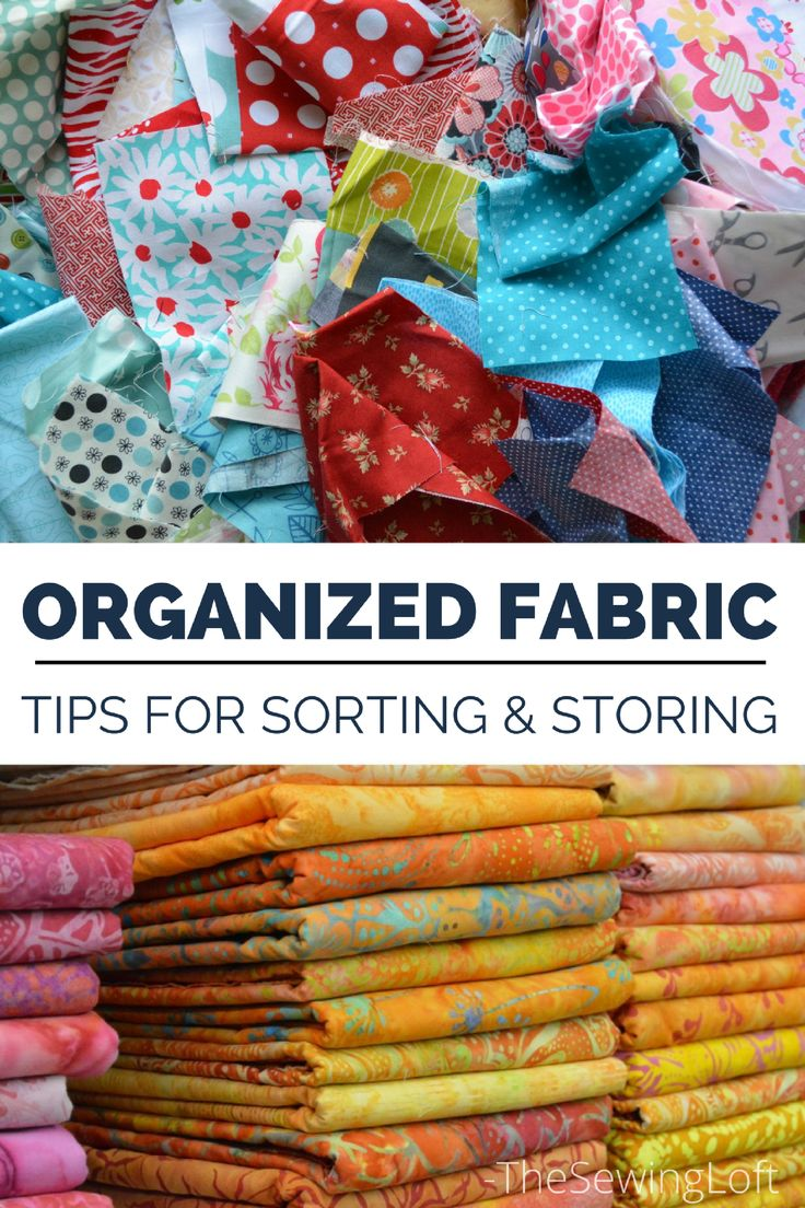 Keep your sewing fabrics organized, sorted and ready for your next project with these clever ideas.