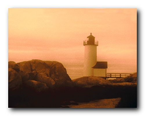Absolutely beautiful! Jazz up your living space with this Ocean scenic art print poster. This poster displaying the picture of Maine lighthouse near the Ocean view makes this poster focal point of ant space. This unique eye catchy poster will be a great addition to your home wall decor. Hurry up and grab this wonderful wall poster for its perfect quality and amazing color accuracy.