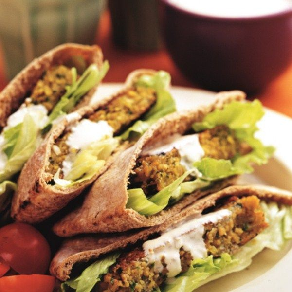 Pitabroodje met falafel