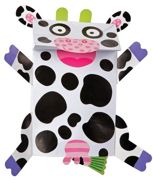 Bolsas de papel títeres de animalitos on http://silose.com
