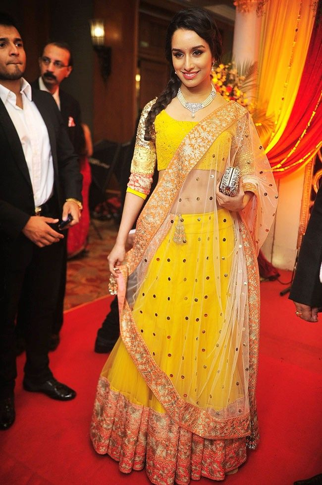 Shradha Kapoor at Bappa & Taneesha Reception in Manish Malhotra