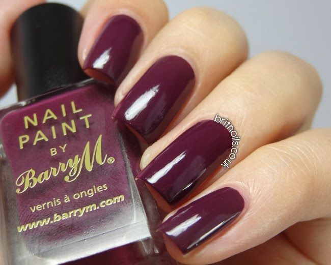 Brit Nails: Barry M Berry Cosmo. A deep burgundy autumn/winter shade.