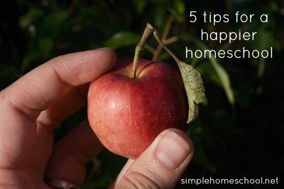 5 tips for a happier homeschool ~SimpleHomeschool.net