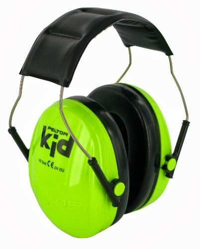 Peltor Kids Ear Muffs Headband - Neon Green