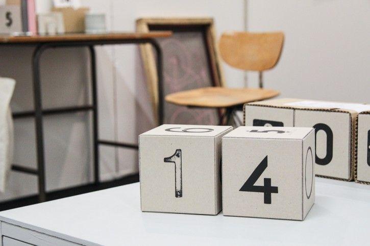 Urban cube calendar by jollygoodfellow! #nordicdesigncollective #formex #formex2014 #fair #design #designfair #stockholm #stockhomsmassan #calendar #screenprint #cube #calendar #one #four #number #typography #chair #desk #numbers #dates #year #jollygoodfellow #handmade