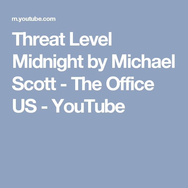 Threat Level Midnight by Michael Scott - The Office US - YouTube