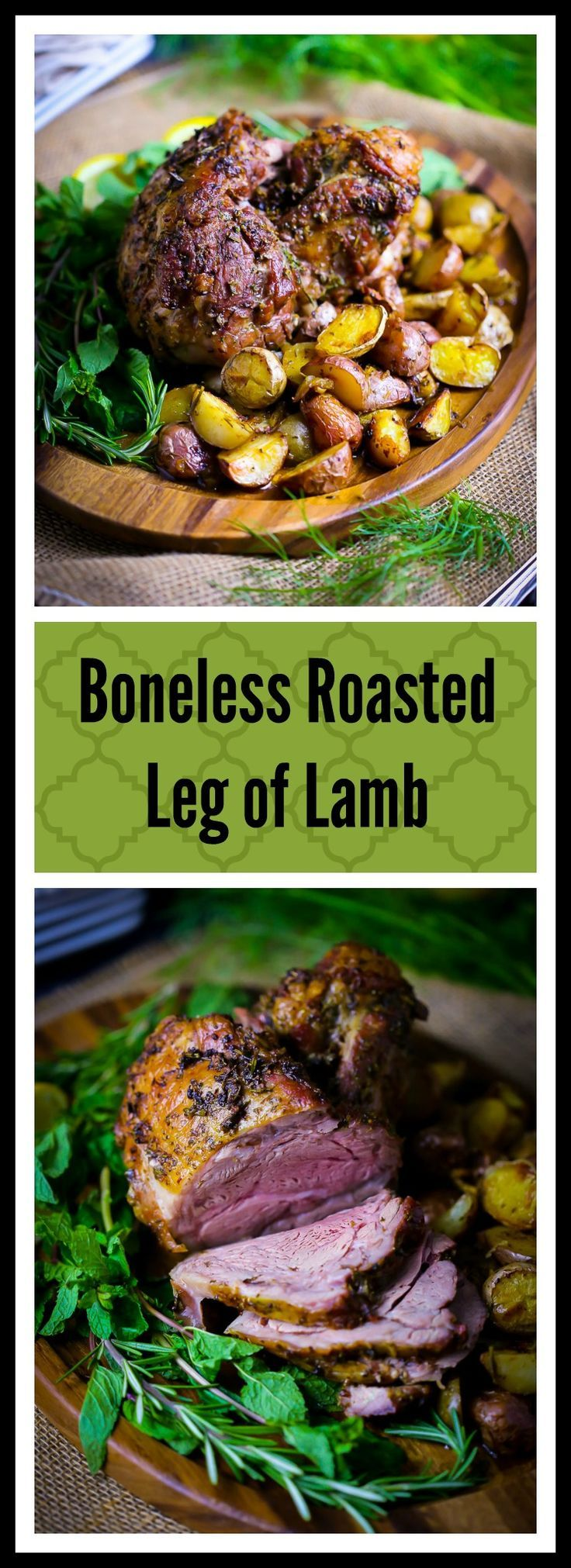 Looking for an easy and elegant main course for your holiday table? Roasted leg of lamb with baby potatoes fits the bill for Easter or Passover dinner.