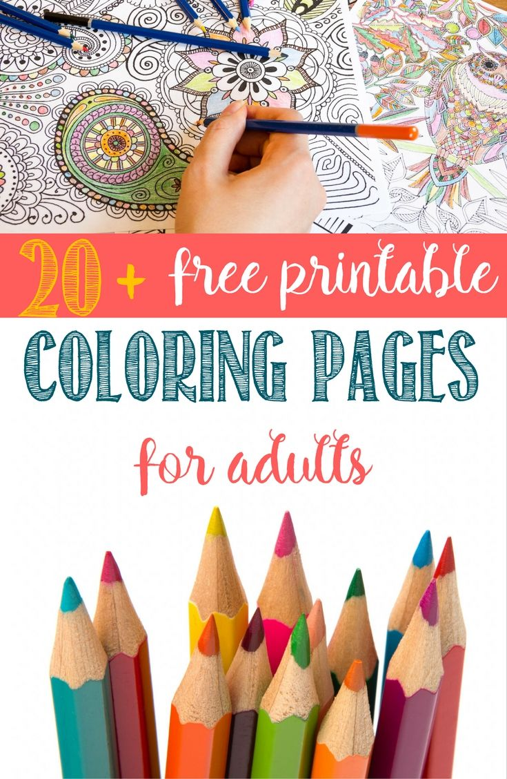 416 best free coloring pages for adults images on pinterest ... - Free Pictures Color Adults