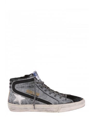 GOLDEN GOOSE Golden Goose Deluxe Brand Sneaker Alta In Pelle. #goldengoose #shoes #sneakers