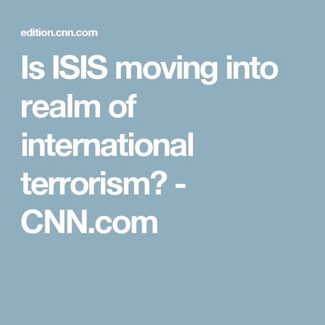 Is ISIS moving into realm of international terrorism? - CNN.com
