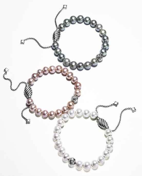 The Classic Pearl Bracelet Is Made Modern With Touches Of Iconic Cable.