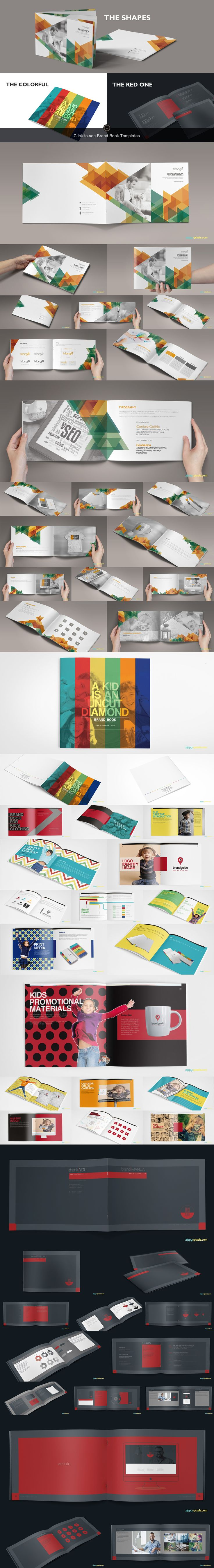 13 Brand Guidelines Templates Bundle by ZippyPixels on Creative Market