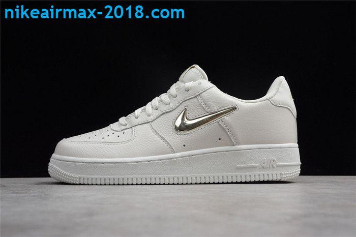 Original Nike Air Force 1 Low White Silver Ao3814-001 Men ...
