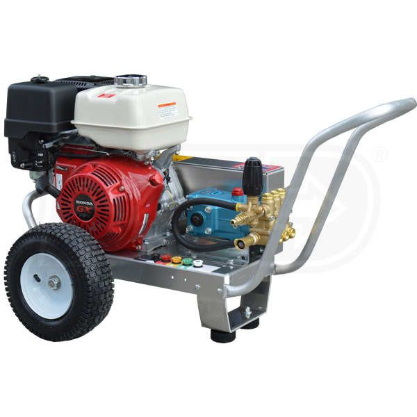 Pressure-Pro EB4040HC Professional 4000 PSI Gas-Cold Water Belt-Drive Aluminum Frame Pressure Washer w/ Honda GX390 Engine & CAT Pump
