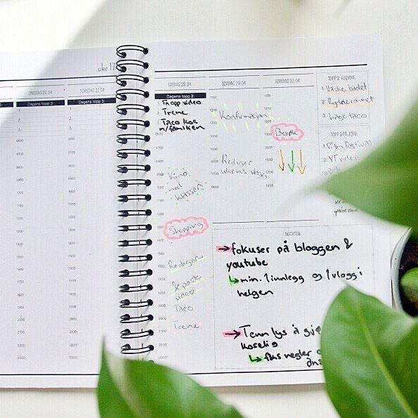 Så deilig med oversikt over hele uka🙌🏼 📷: @lotte.flatoy   #hverdagsplanlegger #almanakk #planlegger #organized