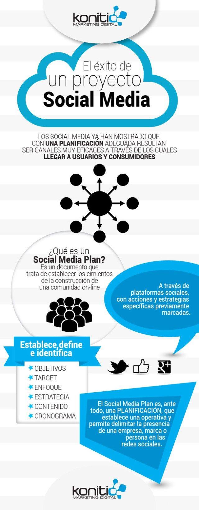 El éxito de un proyecto Social Media #infografia #infographic #socialmedia