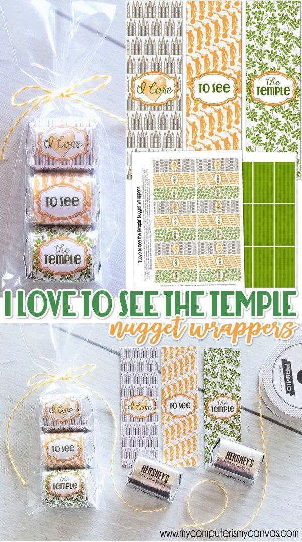 I LOVE TO SEE THE TEMPLE Nugget Wrapper, printable candy wrapper, temple and priesthood preview ideas, handouts, temple handout, LDS Temple GIFT #mycomputerismycanvas