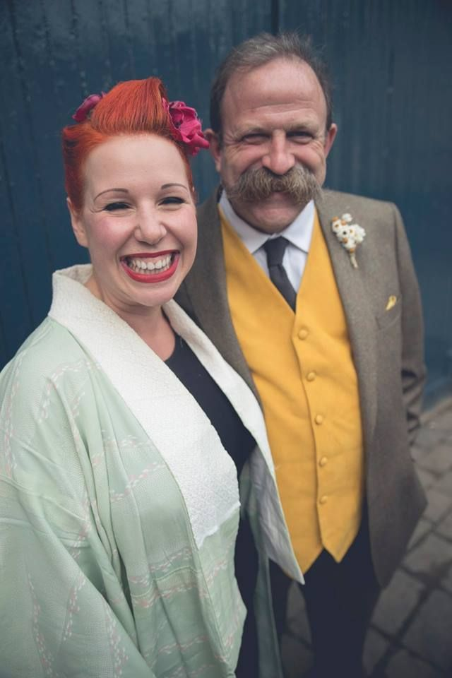 Angel and hubby Dick Strawbridge. A lovely couple