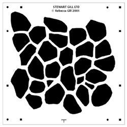 Giraffe stencil pattern