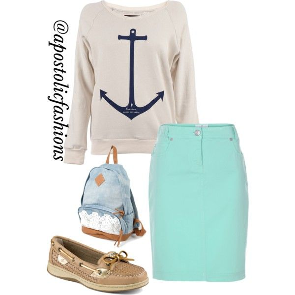 Apostolic Fashions #385 by apostolicfashions on Polyvore featuring Gosse de Paris and Sperry Top-Sider