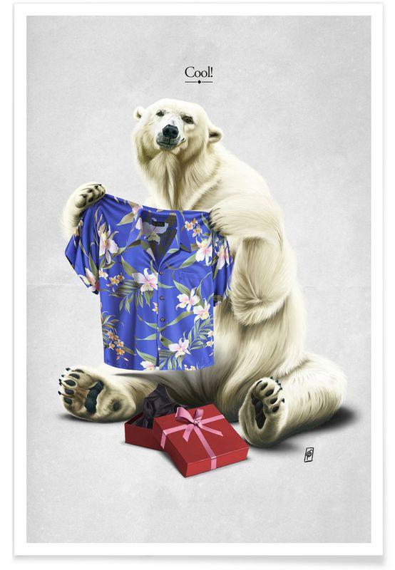 Cool ! as Premium Poster by Rob Snow | Creative | JUNIQE  art | decor | wall art | inspiration | animal | home decor | ideas | gift
