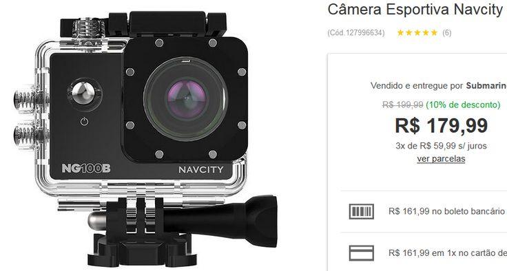 Câmera Esportiva Navcity NG-100B Preto << R$ 16199 >>