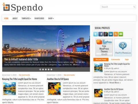 Spendo WordPress theme
