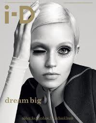 id magazine cover - ID heeft altijd wat artistiekere covers en daar houd ik heel erg van. Ook vind ik het gebruik van weinig tekst op de cover heel fijn. bron: ID magazine