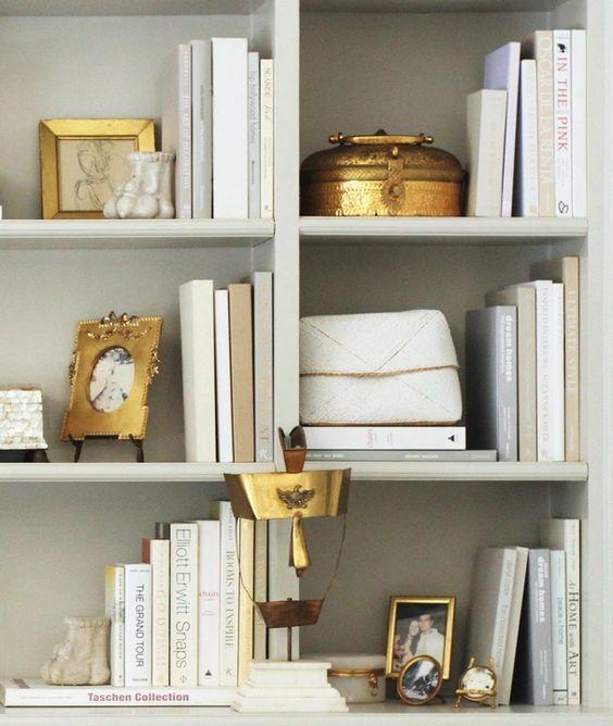 Nice Bookshelf Arrangement Of Accessories