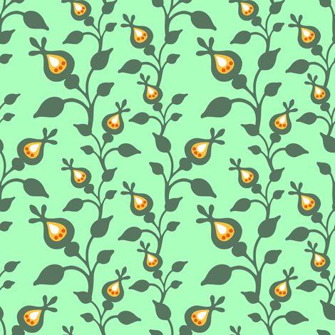 Fiaba Rose Hip Green fabric by fiaba_fabrics on Spoonflower - custom fabric