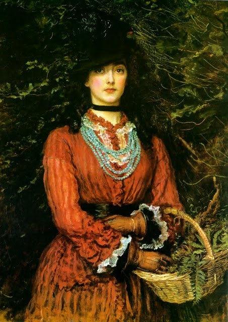 'Miss Everleen Tennant' - portrait by J.E.Millais 1874