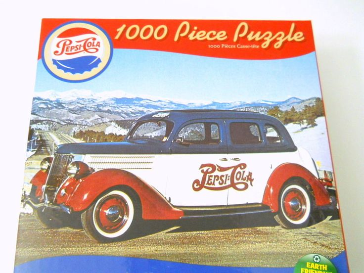 pepsi cola retro ride jigsaw puzzle new 1000 piece car automobile 27x20 usa made pepsicola. Black Bedroom Furniture Sets. Home Design Ideas