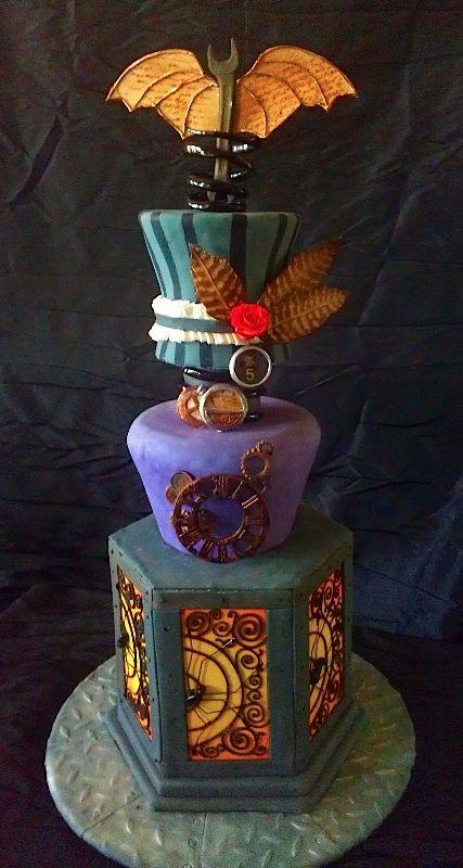 Steam punk wedding cake.