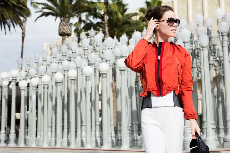 Fay City Diaries: an endless adventure in Los Angeles. Women's Spring - Summer 2014 Bomber Jacket.
