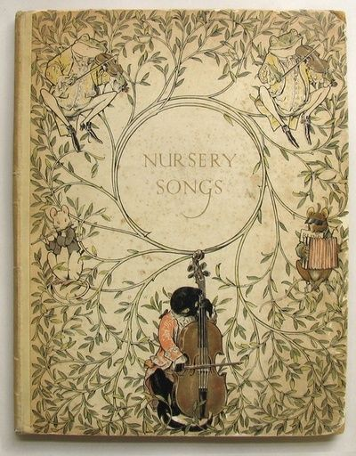 Nursey Songs - what a beautifully illustrated book cover Visit Hollets Rare Books for other gems