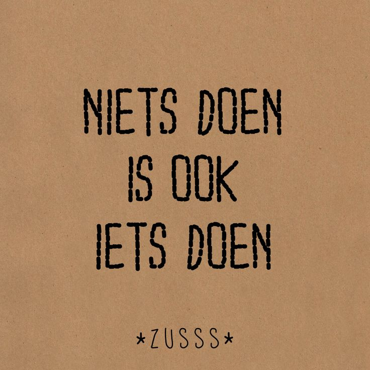Zusss l niets doen is ook iets doen l http://www.zusss.nl/