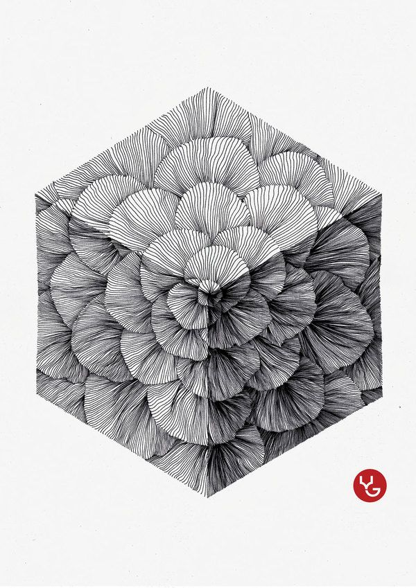 It's incredible what Vasilj Godzh can do with the humble Rotring pen, the Russian born Illustrator creates these incredibly beautiful and serene line drawi