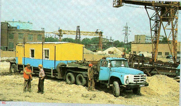 09 ЗиЛ-133ВЯ с низкорамными полуприцепам 1990 год