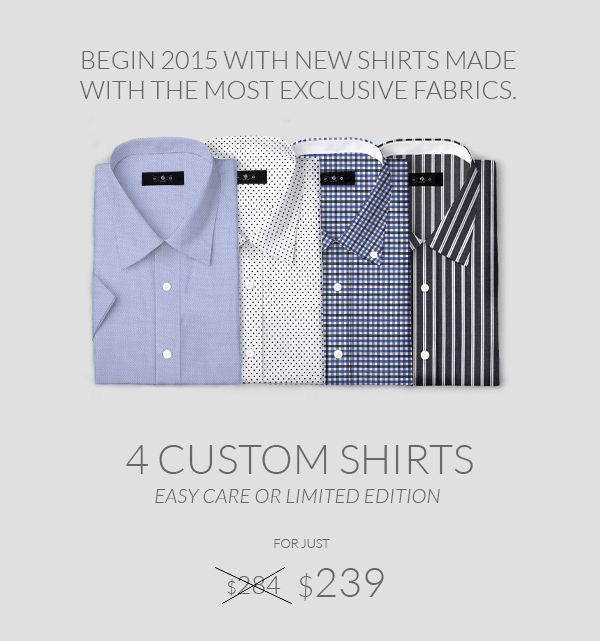 Get advantage of the new Discount at http://www.tailor4less.com/en/ and don't forget to add the code shirtsalesjan15
