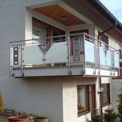 Gelander Mit Glas Und Blech Terrasse Balkongelander Balkon Und