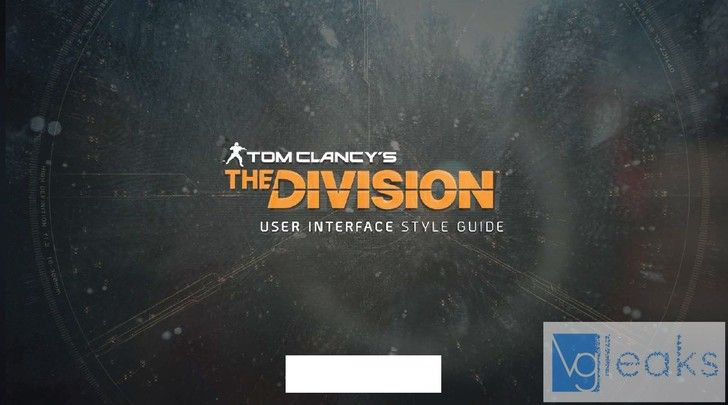The Division - User Interface style guide