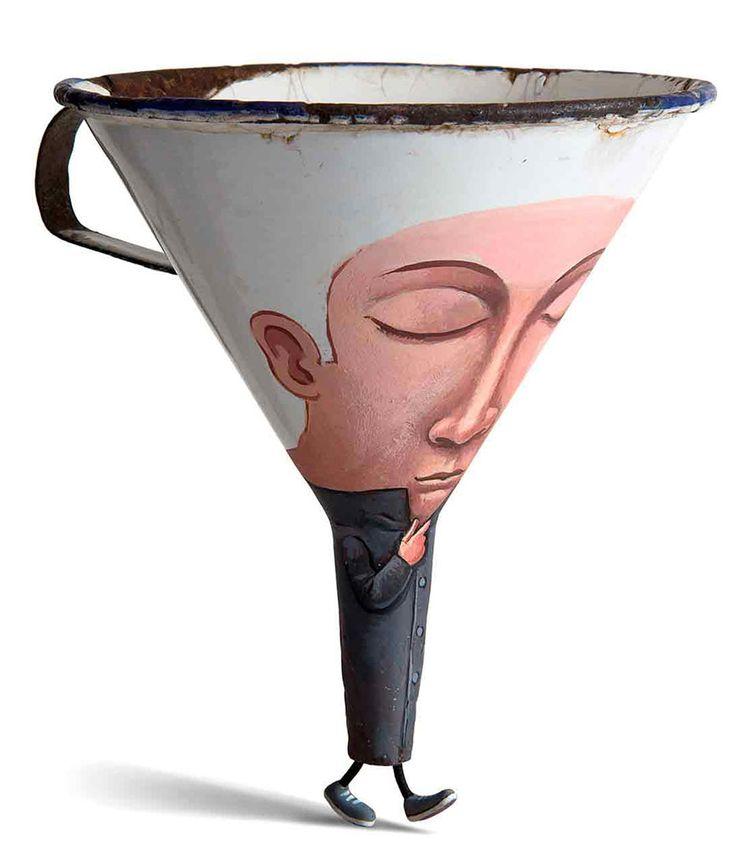 O francês Gilbert Legrand consegue ver, em simples objetos, incríveis desenhos…