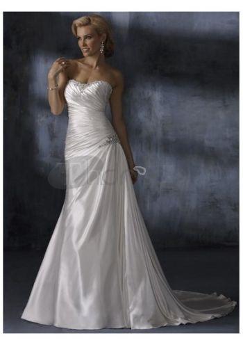Abiti da Sposa in Pizzo-Sweetheart vita con abiti da sposa in pizzo luminosi