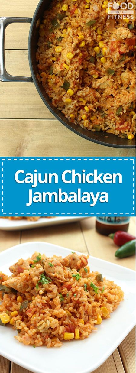 High Protein Cajun Chicken Jambalaya | a delicious, high protein recipe that is less than 400 calories | FoodForFitness.co.uk