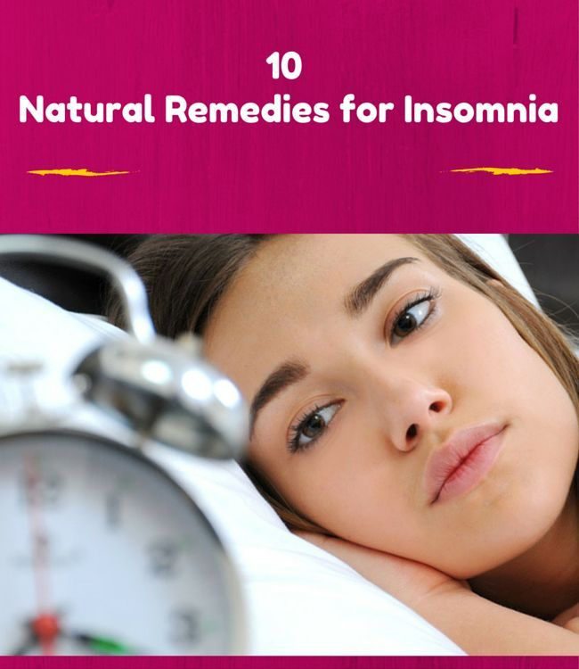 Insomnia Remedies Treat With 10 Natural