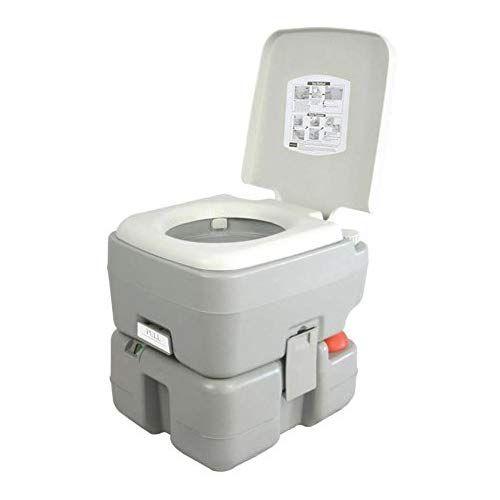 Serenelife Portable Toilet Potty Seat With Piston Pump Flush