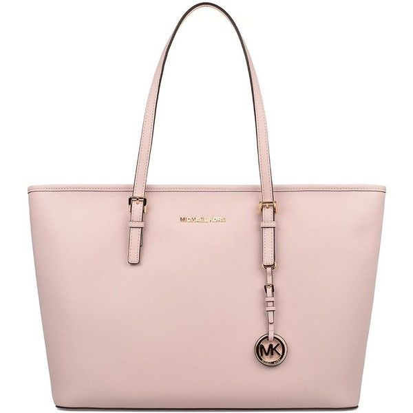 Michael Kors Totes (€266) ❤ liked on Polyvore featuring bags, handbags, tote bags, pink, pink tote bag, leather tote bags, leather handbag tote, leather tote handbags and leather purses