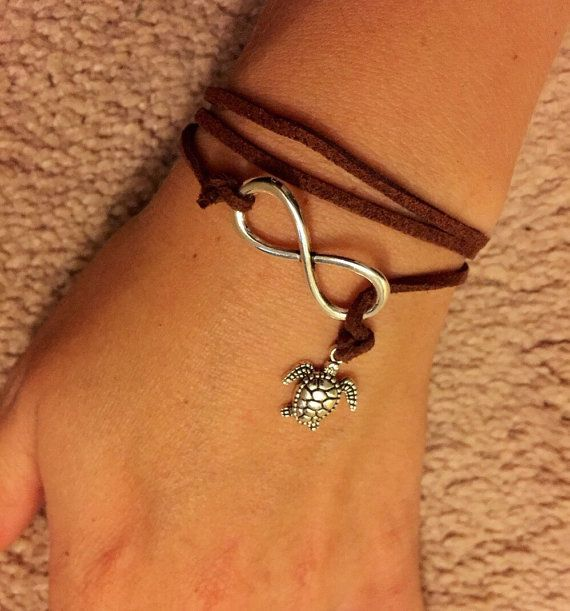 Infintity Nauticle Leather Braclet by JackieHandmadeCrafts on Etsy